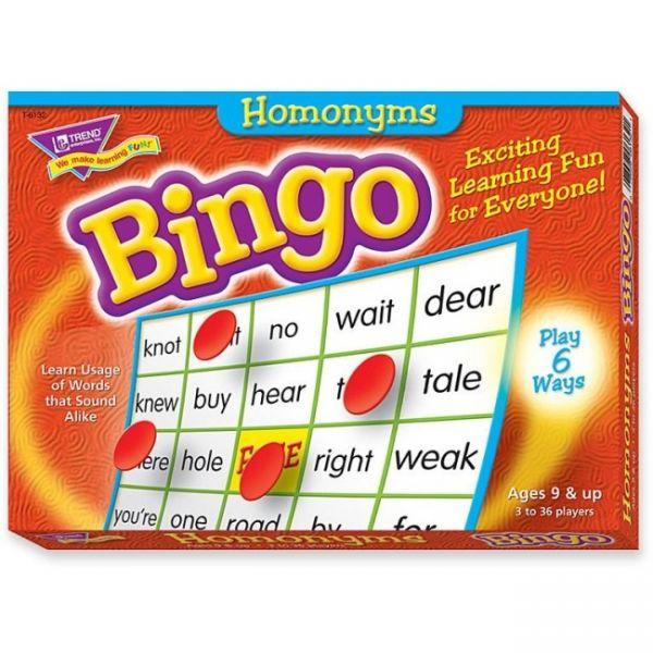 Homophones Bingo Game