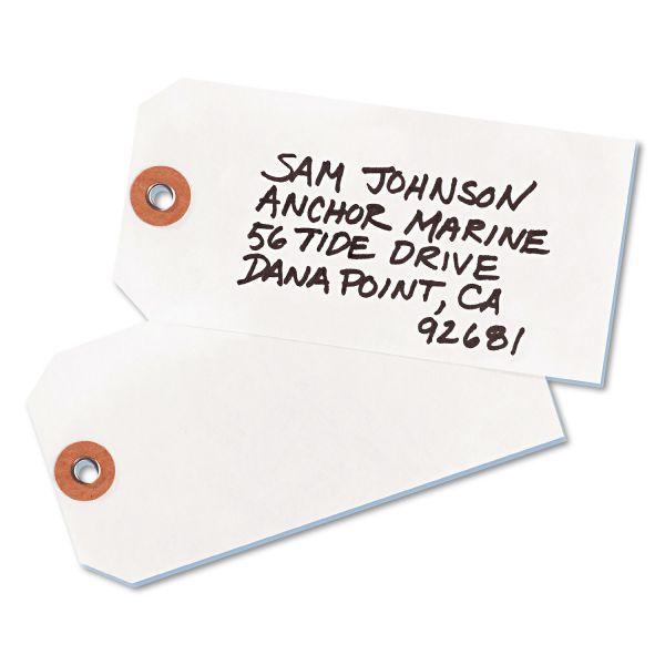 Avery Tyvek Shipping Tags, 4 3/4 x 2 3/8, White, 1,000/Box