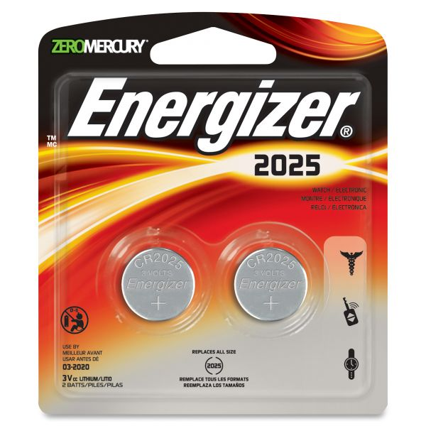 Energizer 2025 Watch/Electronic Battery