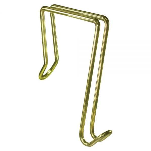 Artistic Steel/Gold Tone Partition Garment Hook