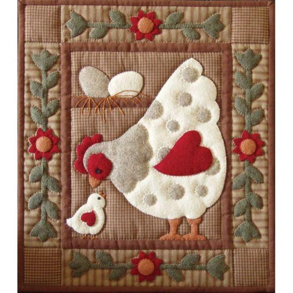 Spotty Hen Wall Quilt Kit