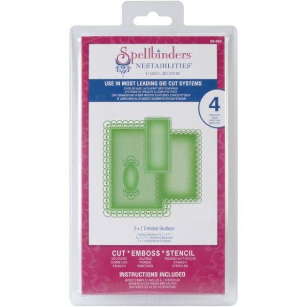 """Spellbinders Nestabilities 5""""X7"""" Card Creator Dies"""