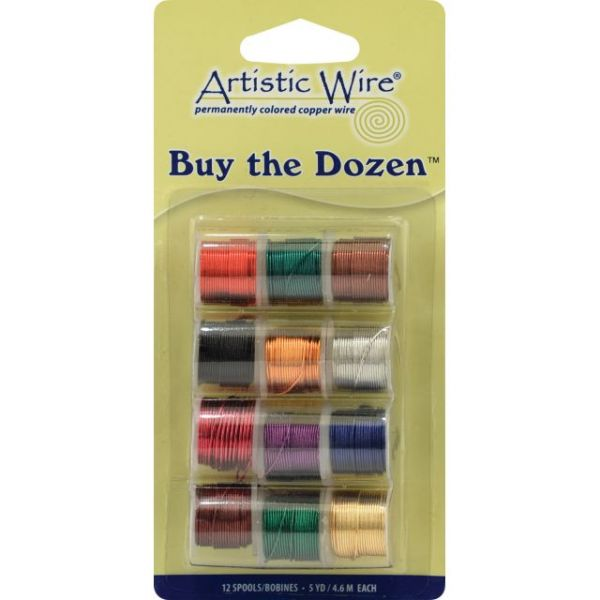 Beadalon Artistic Wire Buy-The-Dozen Colored Wire