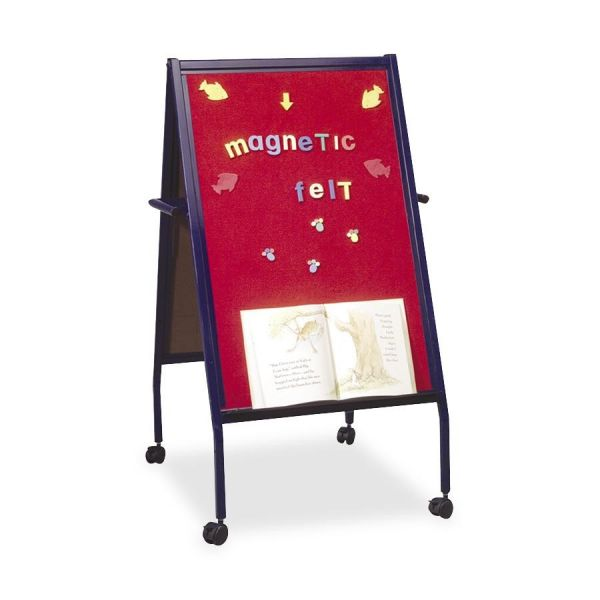 MooreCo Magnetic Red Flannel Surface Easel