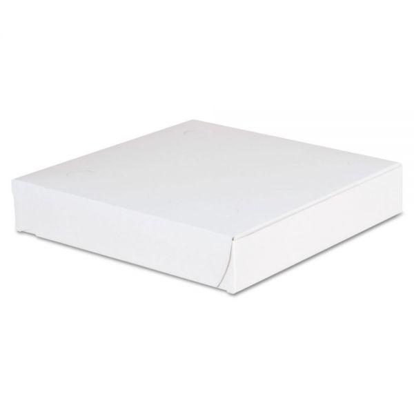 SCT Lock-Corner Pizza Boxes, 8w x 8d x 1 1/2h, White