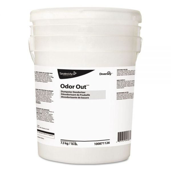 Diversey Odor Out Odor Counteractant Pellets, Fresh Floral, Pink, 16 lb Pail