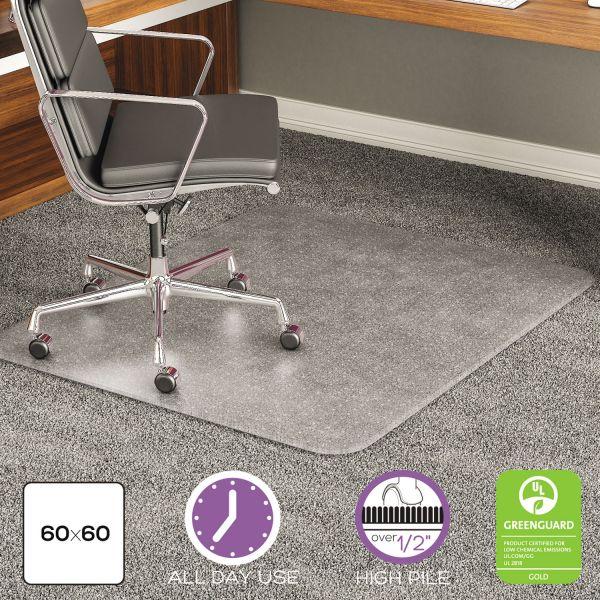 Deflect-o Beveled Edge High Pile Chair Mat