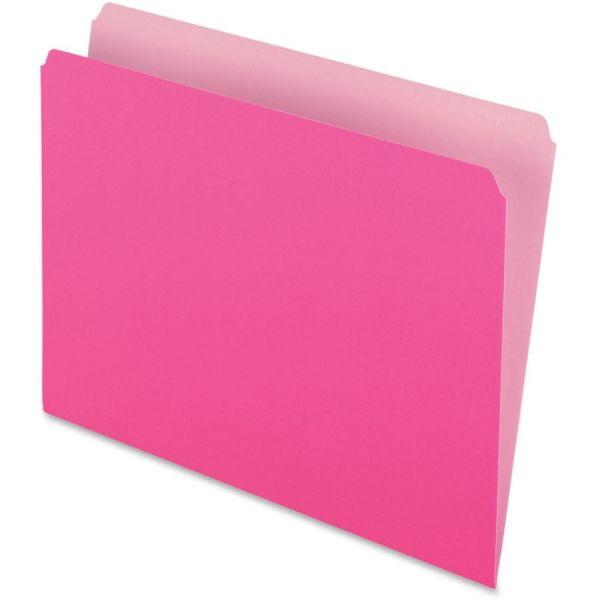 Pendaflex Colored File Folders 1//3 Cut Top Tab Letter Pink//Light Pink 100//Box