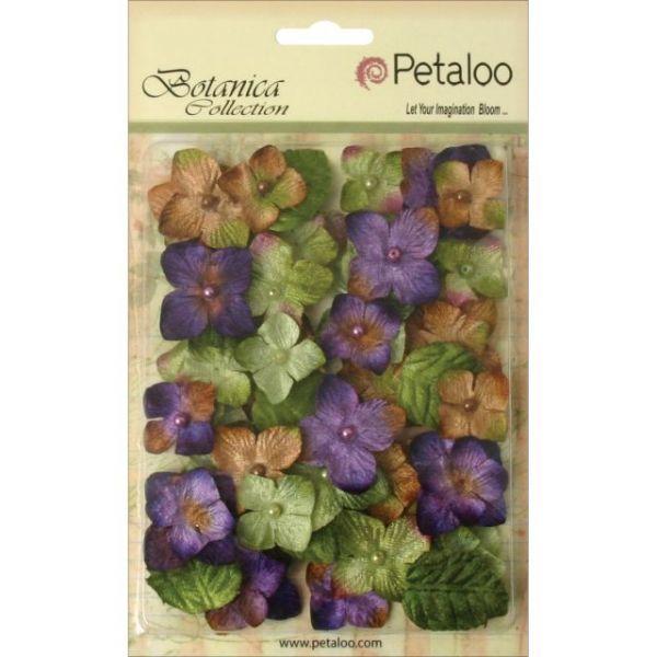 """Floral Embellishments Velvet Hydrangeas 1"""" 36/Pkg"""