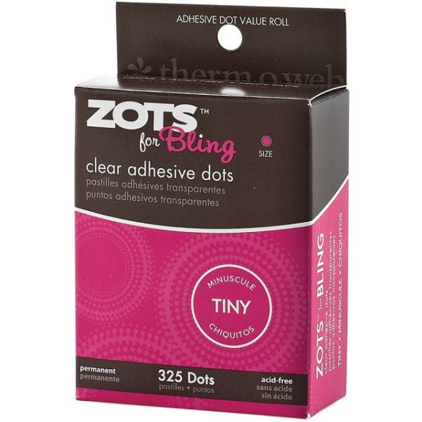 Therm-O-Web Zots for Bling Clear Adhesive Dots