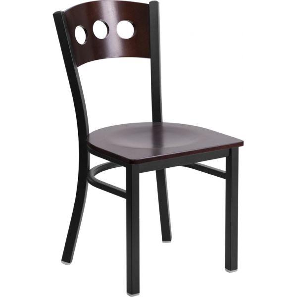 Flash Furniture Decorative 3 Circle Back Metal Restaurant Chair
