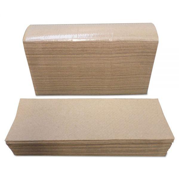 Morcon Paper Multi-Fold Towels, 1 Ply, 9 x 9, Kraft, 4000/Carton