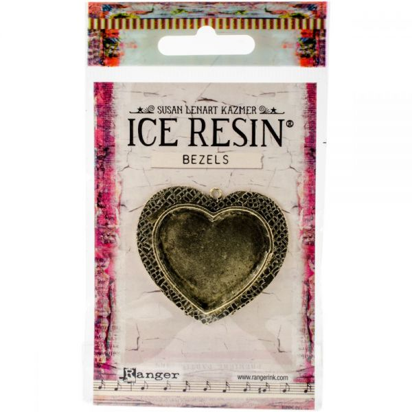 Ice Resin Milan Bezels Closed Back Large Heart
