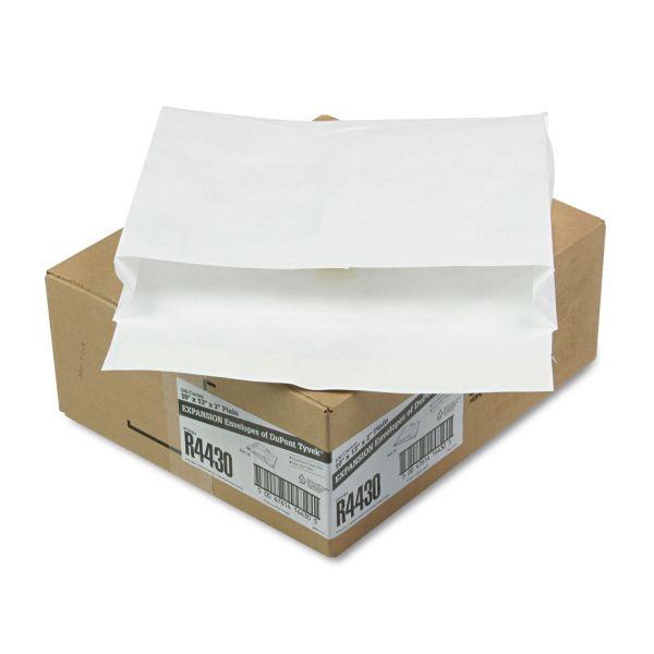 Survivor Tyvek Expansion Mailer, 10 x 13 x 2, White, 18lb, 100/Carton