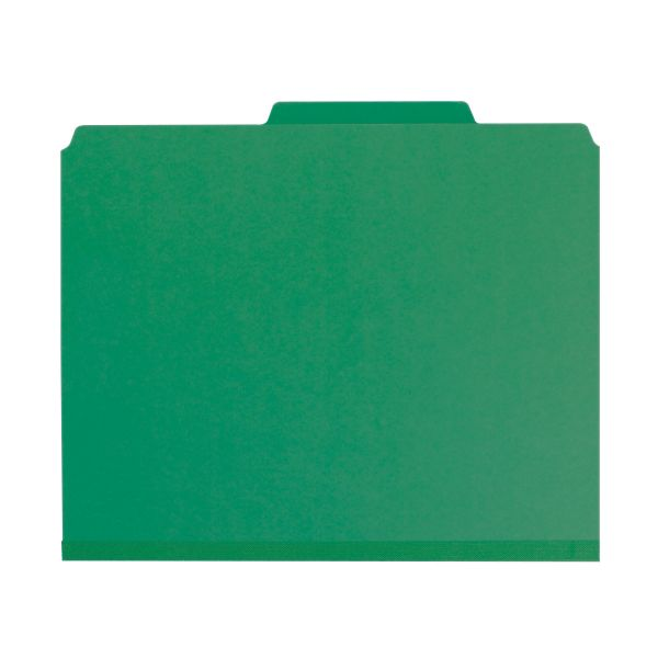 Smead SafeSHIELD Pressboard Classification Folders with Pocket Dividers