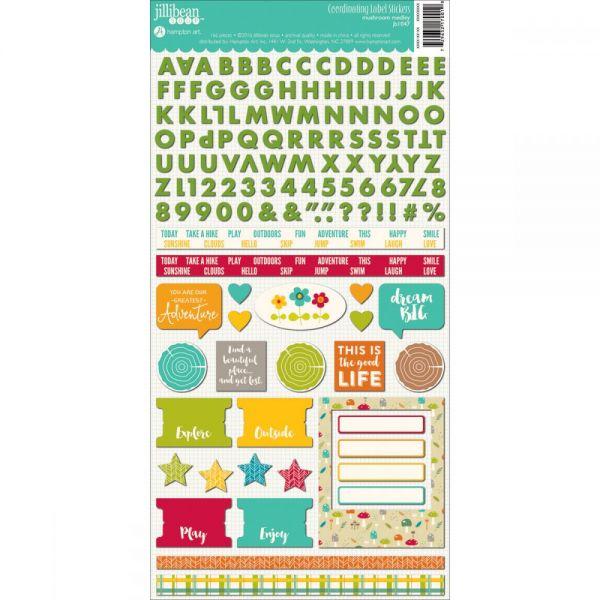 """Mushroom Medley Cardstock Stickers 6""""X12"""""""