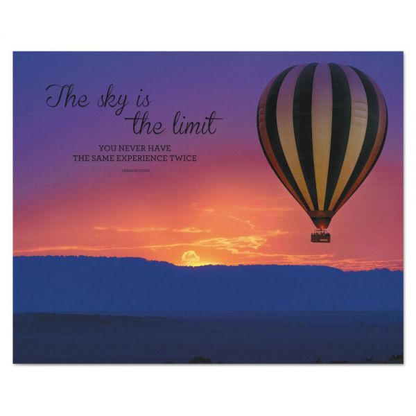 "Advantus ""The Sky is the Limit"" Silhouette Canvas Motivational Print, 22 x 28"