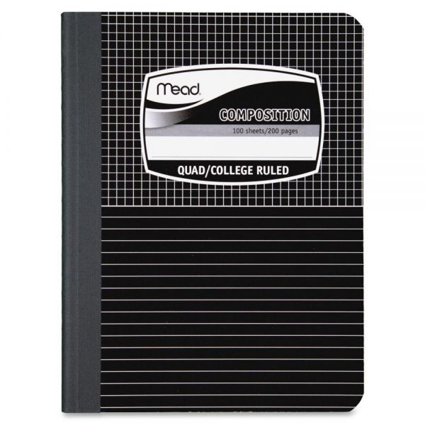 Mead Black Cover Graph Composition Notebook