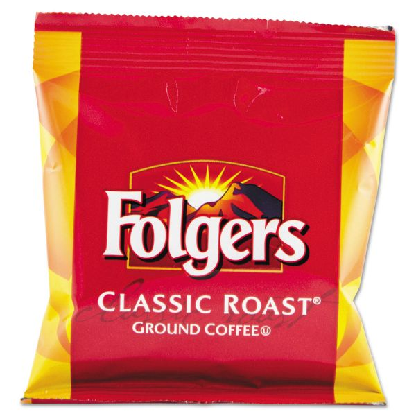 Folgers Coffee, Fraction Pack, Classic Roast, 1.5oz, 42/Carton
