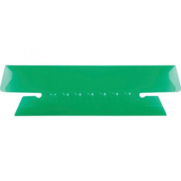 Pendaflex Hanging File Folder Tabs, 1/3 Tab, 3 1/2 Inch, Green Tab/White Insert, 25/Pack