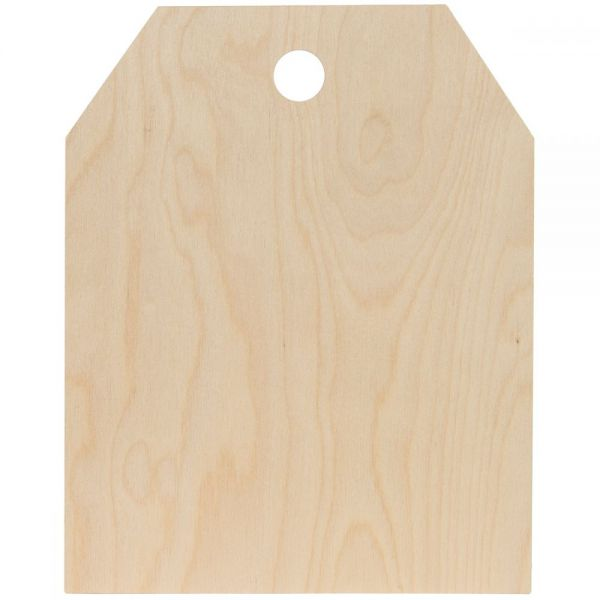 Baltic Birch Simple Shape Tag
