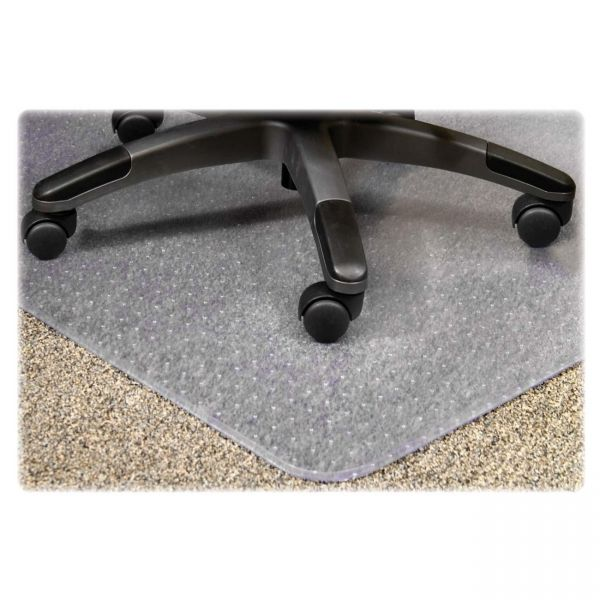 Lorell PlushMat Medium Pile Chair Mat