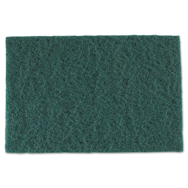 Royal Medium-Duty Scouring Pad, 6 x 9, Green, 60/Carton
