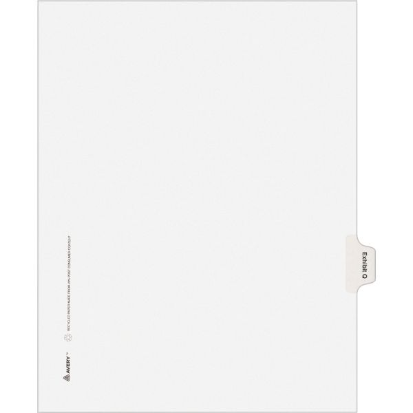 Avery Legal Exhibit Index Dividers
