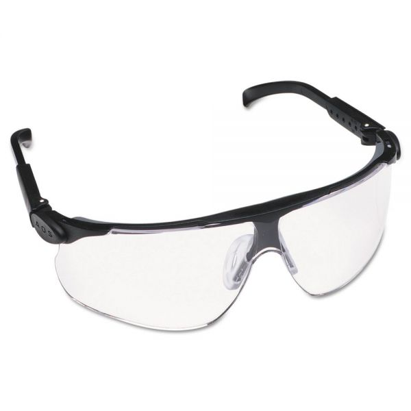 3M Maxim Protective Eyewear, Black Frame/Clear Lens, Anti-Fog DX Hard-Coat