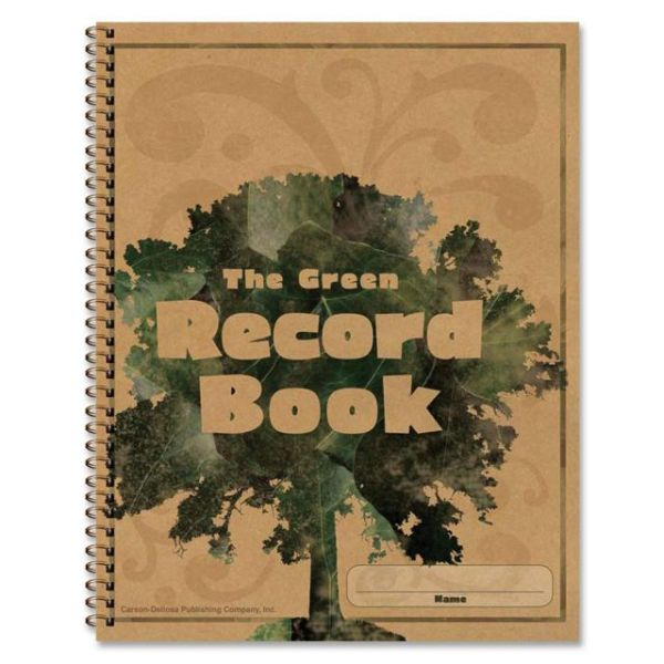 Carson-Dellosa The Green Spiralbound Record Book