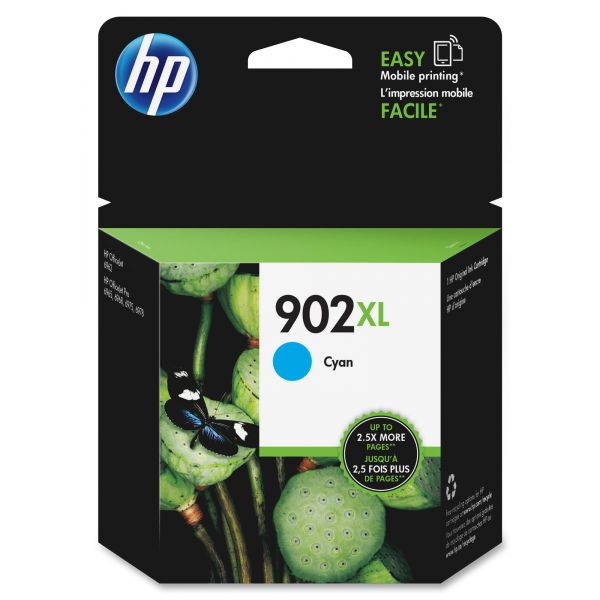 HP 902XL High-Yield Cyan Ink Cartridge (T6M02AN)