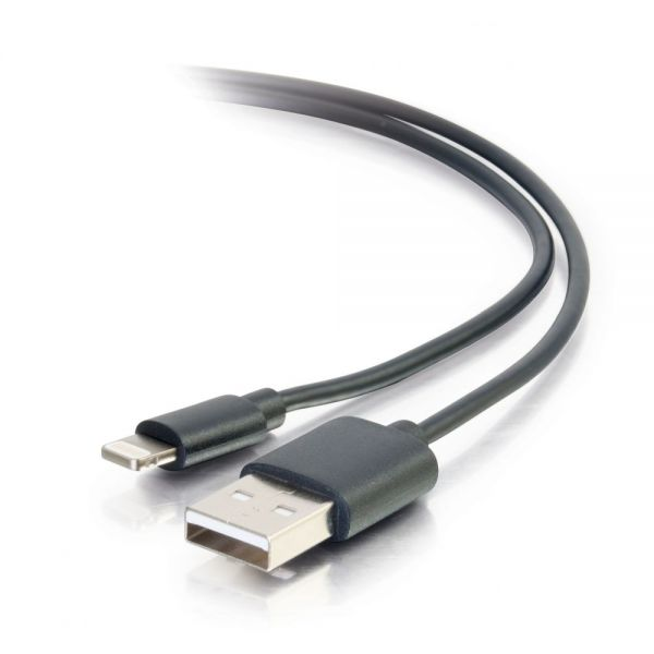 C2G 1m USB A to Lightning Male Sync and Charging Cable - M/M Black (3.3ft)