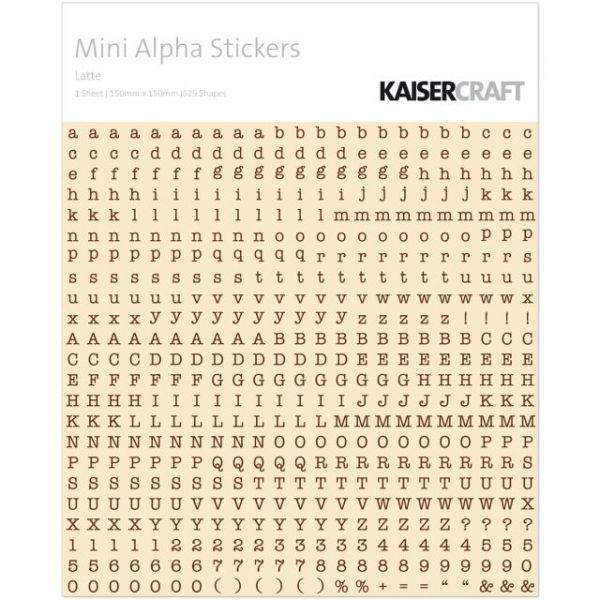 "Mini Alphabet Stickers 5.9""X5.9"" Sheet"