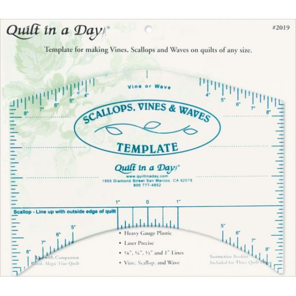 Quilt In A Day Scallops, Vines & Waves Template