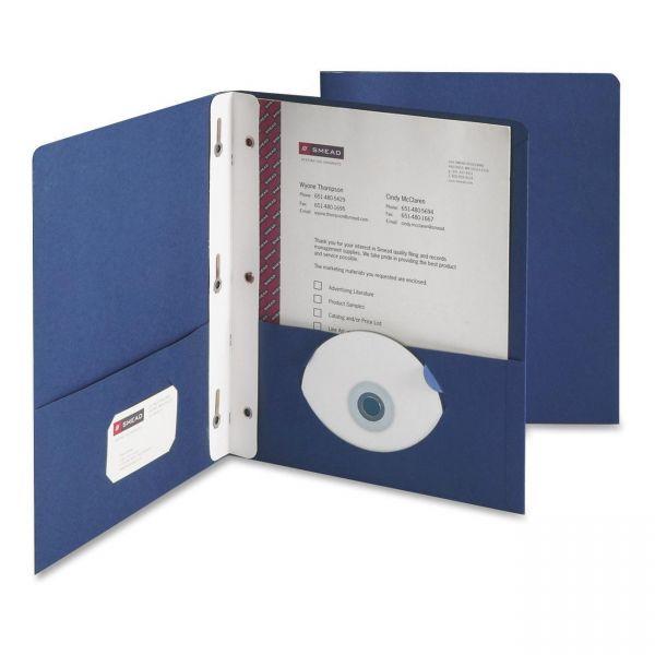 Smead Heavyweight Dark Blue Two Pocket Folders