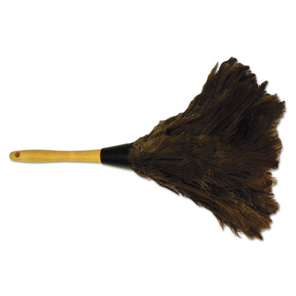 "Boardwalk Professional Ostrich Feather Duster, Gray, 14"", Wood Handle"