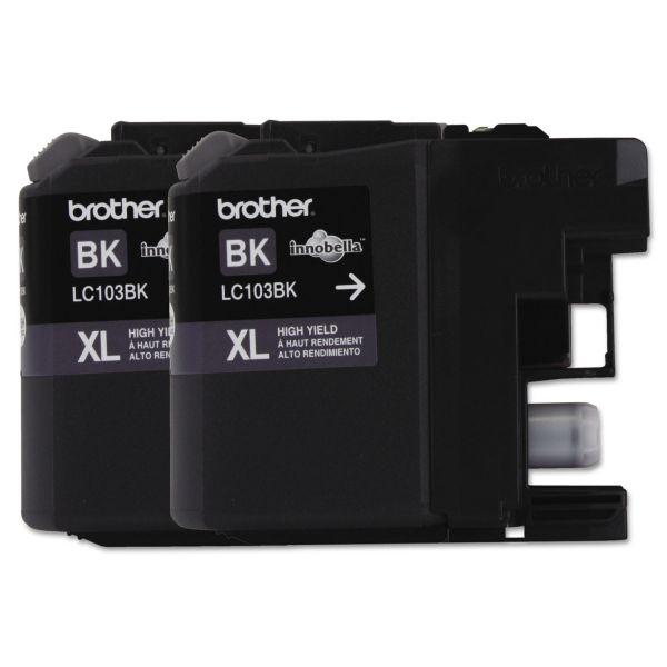 Brother LC1032PKS Innobella High-Yield Ink, Black, 2/PK