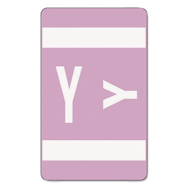 Smead Alpha-Z Color-Coded Second Letter Labels, Letter Y, Lavender, 100/Pack