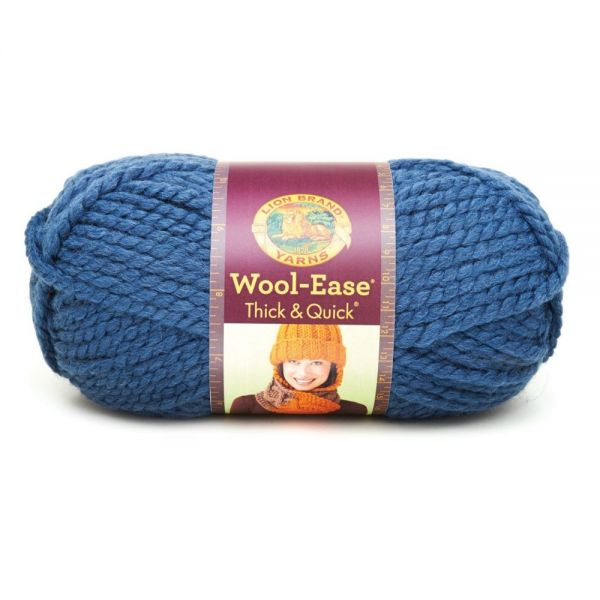 Lion Brand Wool-Ease Thick & Quick Yarn - Denim