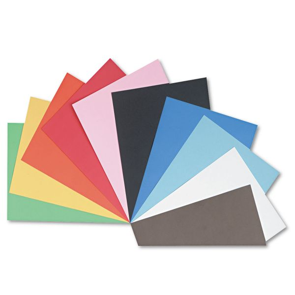 Pacon Tru-Ray Construction Paper, 76 lbs., 18 x 24, Assorted, 50 Sheets/Pack