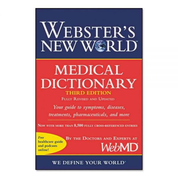 Houghton Mifflin Webster's New World Medical Dictionary, Third Edition, Paperback, 480 Pages