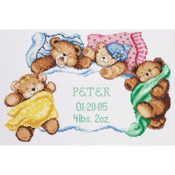 Down For A Nap Sampler Counted Cross Stitch Kit