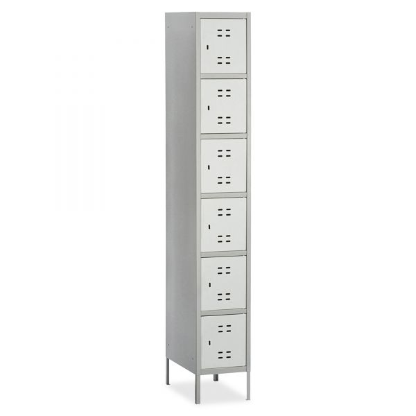 Safco Six-Tier Two-tone Box Locker with Legs