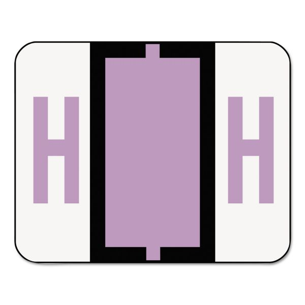 Smead BCCR Bar-Style Color-Coded Alphabetic Label - H