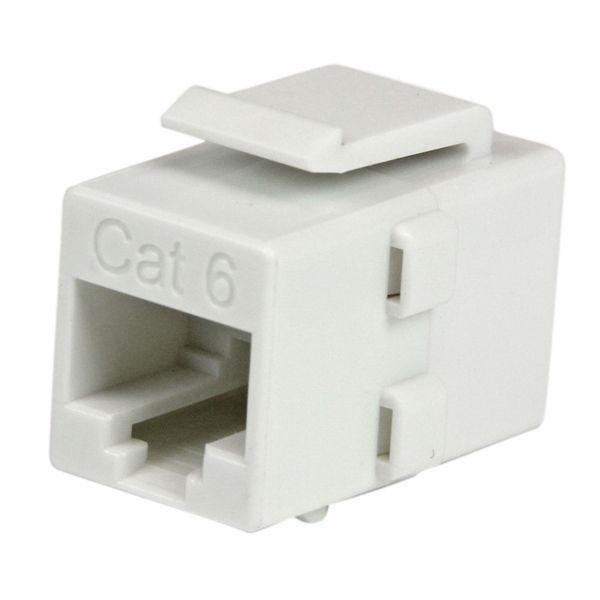 StarTech.com White Cat 6 RJ45 Keystone Jack Network Coupler - F/F