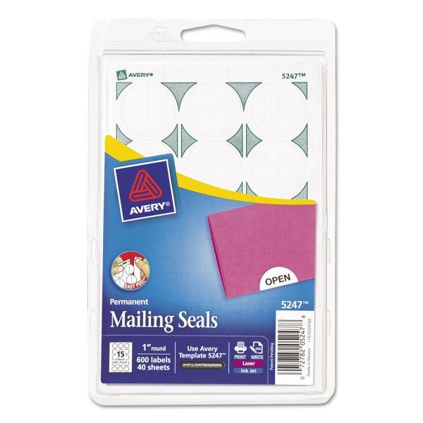 Avery Permanent Mailing Seals