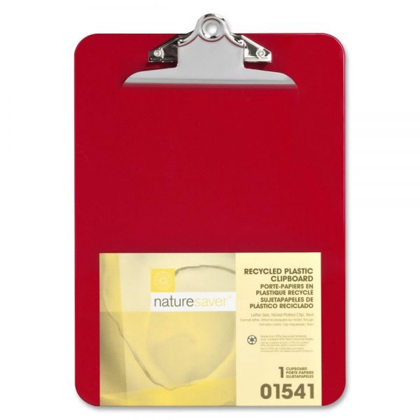 Nature Saver Recycled Red Plastic Clipboard