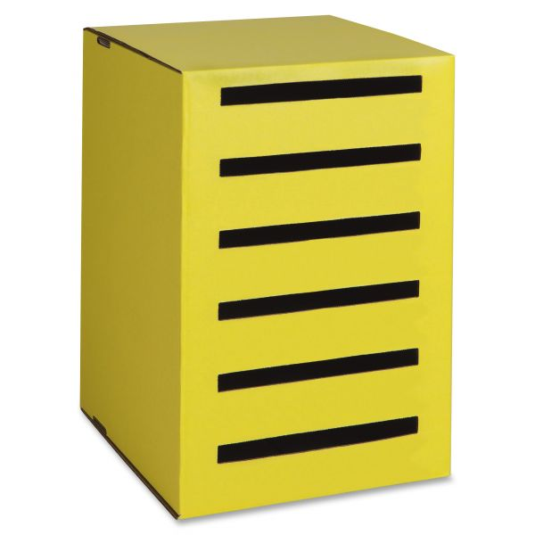 Pacon Classroom Keepers Homework Collector, Yellow, 6 Compartments, 13 x 14 x 18