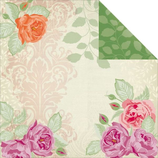 "Flora Delight Double-Sided Paper 12""X12"""