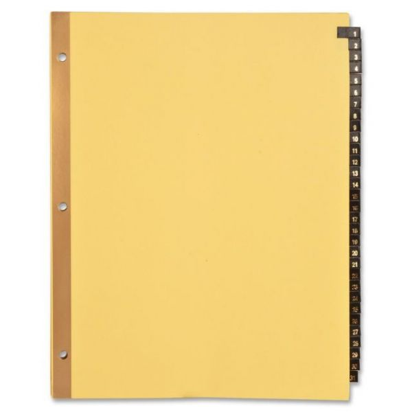 Sparco Leather Numbered Tab Index Dividers